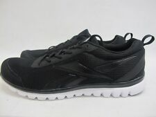 Mens Reebok Sublite Sport Shoes Black Running Lace Up Trainers
