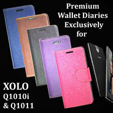 DIARY WALLET STYLE FLIP FLAP COVER CASE For XOLO Q1010 / Q1010i / Q1011