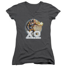 X-O XO Manowar Comic VINTAGE MANOWAR Cover Licensed Juniors V-Neck Tee Shirt
