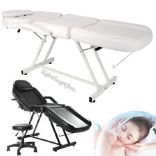 Reclining Beauty Salon Chair Balance Massage Table Lounge Couch Bed Facial Stool