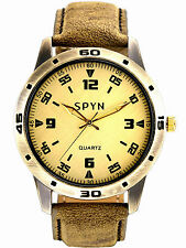 SPYN Analogue Casual Leather Belt watches for men. mens watches