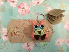 SASS & BELLE OWL KEYRING - PILLOW BOX BAG CHARM QUIRKY GIFT FRIEND SISTER MUM