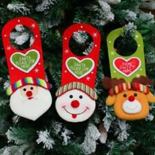 Merry Christmas Santa Snowman Hanging Xmas Door Window Decorations Sign LA