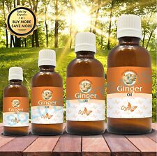 GINGER OIL  100% NATURAL PURE UNDILUTED UNCUT ESSENTIAL OIL 5ML TO 1000ML