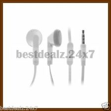 White OEM Genuine HTC RC E195 Noodle Flat Cable Out Ear Stereo Earphones Headset