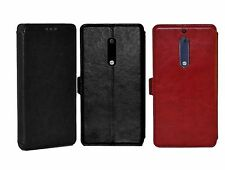 FAD-E™ Retro Wallet Series PU Leather Flip Case Cover for Nokia 5