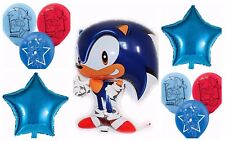 SONIC THE HEDGEHOG Printed Latex / Foil Balloon Birthday Party Decoration 6-18pk