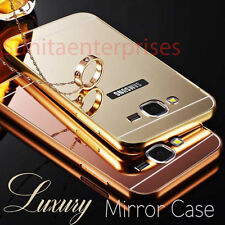 Samsung Galaxy A5 2016 A510 Luxury Aluminum Mirror Back Cover + Aluminium Bumper