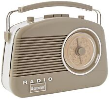 Portable Steepletone Retro Kitchen Radio Fiat 500 Cappuccino Beige Coloured NEW