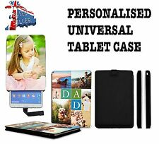 PERSONALISED iPAD CASE UNIVERSAL FAUX LEATHER FLIP TABLET COVER CUSTOM NAME