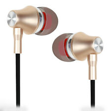 Metal Plugs Earphone Compatible For Micromax Canvas Blaze MT500 - Soft Gold