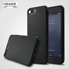 "COVER Custodia silicone Sottile Slim MORBIDA ""FIBRA DI CARBONIO"" Per iPHONE"