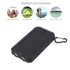300000mAh Dual USB LED Linterna Energía Banco Solar Powered Batería Portátil MC