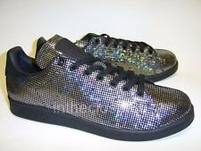 Adidas Stan Smith Bling Glitter Silver Metallic Black Womens Trainers S80958