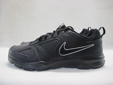 Mens Nike T-Lite XI Running Sport Shoes Black Lace Up Leather Trainers