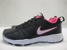 Womens Nike T-Lite Sport Shoes Black Pink Grey Lace Up Ladies Trainers