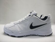 Mens Nike T Lite XI Running Sport Shoes White Navy Lace Up Leather Trainers