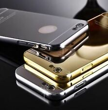 ALUMINIUM METAL BUMPER & GOLD MIRROR PC BACK COVER CASE FOR IPHONE 5 & IPHONE 5S