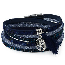12Styles Multilayer Leather Tassel Bracelet Bohemian Feather Anchor Charms Ma...