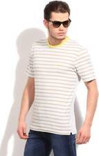 French Connection Striped Mens Round Neck T-Shirt-5441-IGK