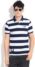 Peter England Striped Mens Polo Neck  T-Shirt-5441-HUV