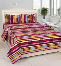 Zesture Cotton Abstract Double Bedsheet(1 Double Bedsheet, 2 Pillow Covers)- I6D