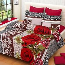 IWS Polyester 3D Printed Double Bedsheet(1 Double Bedsheet,2 Pillow Covers)- ICC