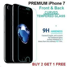 Apple iPhone 7 CURVED Tempered Glass Screen Guard Protector FRONT & BACK