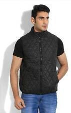 Numero Uno Sleeveless Solid Mens Quilted Jacket (Flat 50% OFF) -C8S