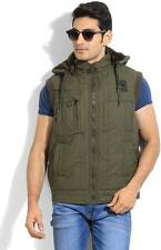Fort Collins Sleeveless Solid Mens Quilted Jacket (Flat 50% OFF) -DKC
