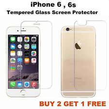 Apple iPhone 6/6S CURVED Tempered Glass Screen Guard Protector FRONT & BACK