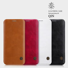 Nillkin Qin Leather Luxary Back Flip Cover Case For Samsung Galaxy S8