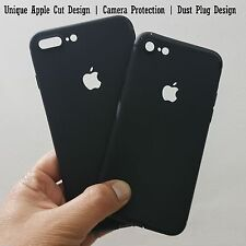 Logo Cut Ultra Thin Soft Silicone Case For iPhone 5/5s/6/6S/6 Plus/7/7 Plus