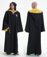 Harry Potter Hufflepuff of Hogwarts Robe Cloak Hoodie Halloween Cosplay Costume