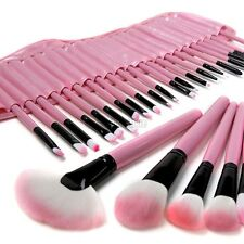 32 PCS Makeup Brush Set Cosmetic Brushes Make up Kit + Pink Pouch Bag Case C5S