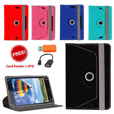 360° ROTATING LEATHER FLIP COVER FOR LENOVO IDEATAB A3000 WITH CARD READER OTG