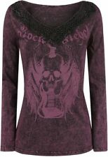 Rock Rebel by EMP Stay Manica lunga donna bordeaux
