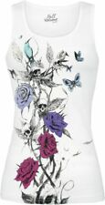 Full Volume by EMP Skull Rose Top Top donna bianco