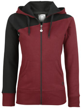 RED by EMP Two Tone Hoodie Felpa con cerniera donna nero/bordeaux