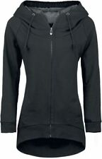 Forplay Zip-Up Longjacket Felpa con cerniera donna nero