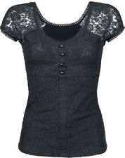 Gothicana by EMP Lace Shirt Maglia donna nero