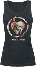 Rise Against Floral Fist Top donna nero