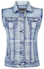 Black Premium by EMP Denim Vest Gilet donna blu