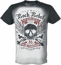 Rock Rebel by EMP Rebel Soul T-Shirt nero/grigio