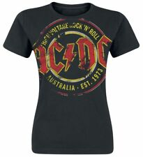AC/DC High Voltage - Australia Est. 1973 Vintage Maglia donna nero