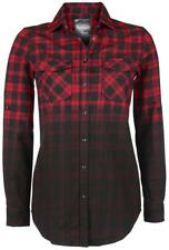 Black Premium by EMP Checked Dip Dye Shirt Camicia donna rosso/nero