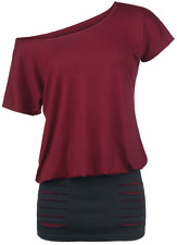 RED by EMP Two Tone Dress Abito bordeaux/nero