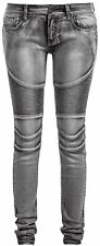 Forplay Biker Pants Jeans donna grigio