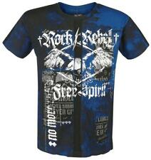 Rock Rebel by EMP Free Spirit Cut-Out Shirt T-Shirt blu/nero