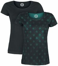 RED by EMP Roundneck Double Pack Maglia donna nero